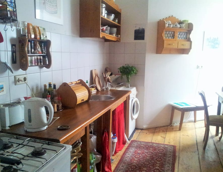 Feel free to use the shared kitchen
