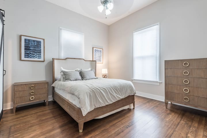 Master bedroom with renovated furniture