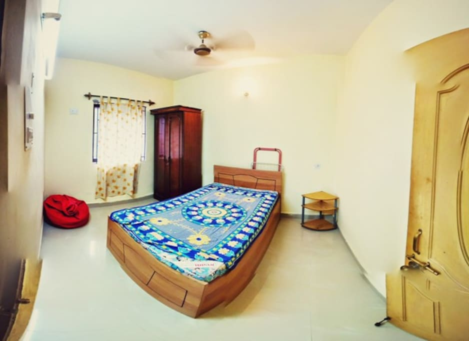 Spacious Bedroom with attached washroom