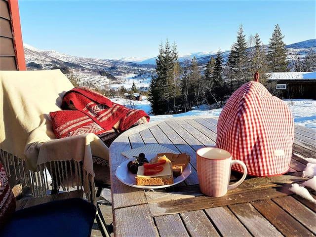 Superkoselig hytte i Furedalen, ski in/ski out! - Kvamskogen - Cabaña