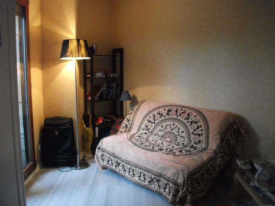 La canapé-lit replié