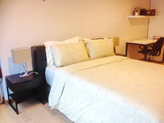 Newly 1BR Cozy Homey, close to BTS - Banguecoque - Apartamento