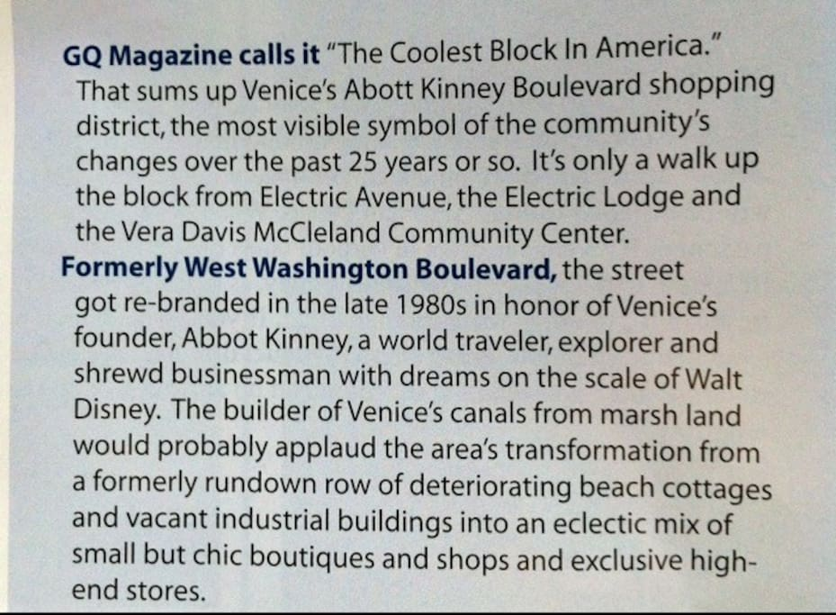 '... The coolest block on America...' GQ - is only 1.5 blocks from our door   : D