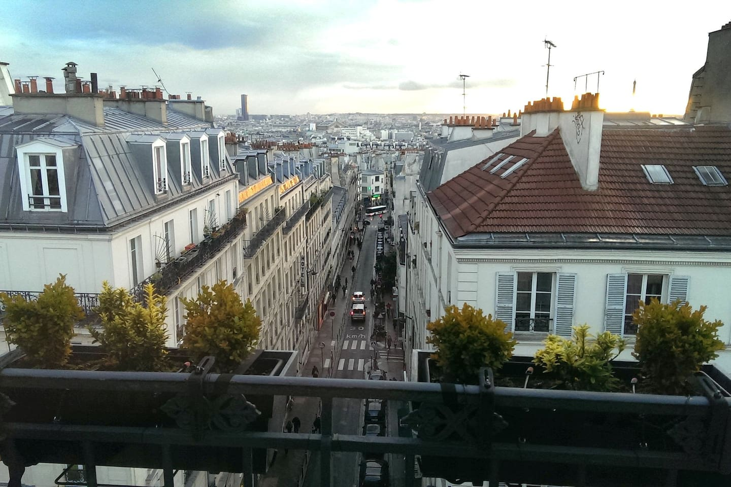 From balcony. South  west of Paris.