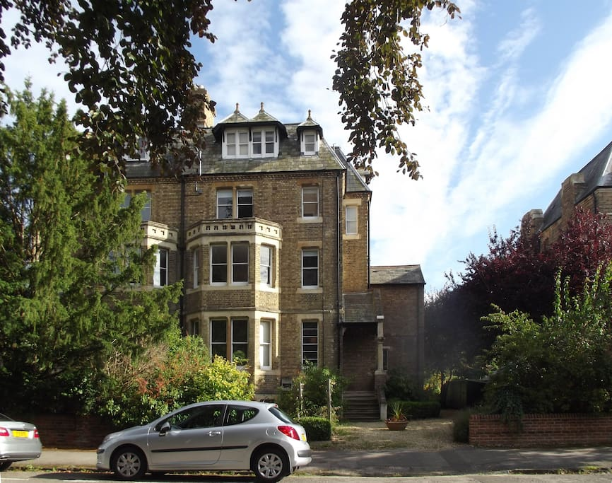 first floor flat in a large Victorian house in a conservation area