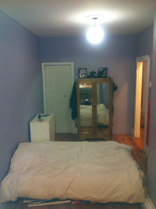 Bedroom,The purple colour is going the same as the small room:)