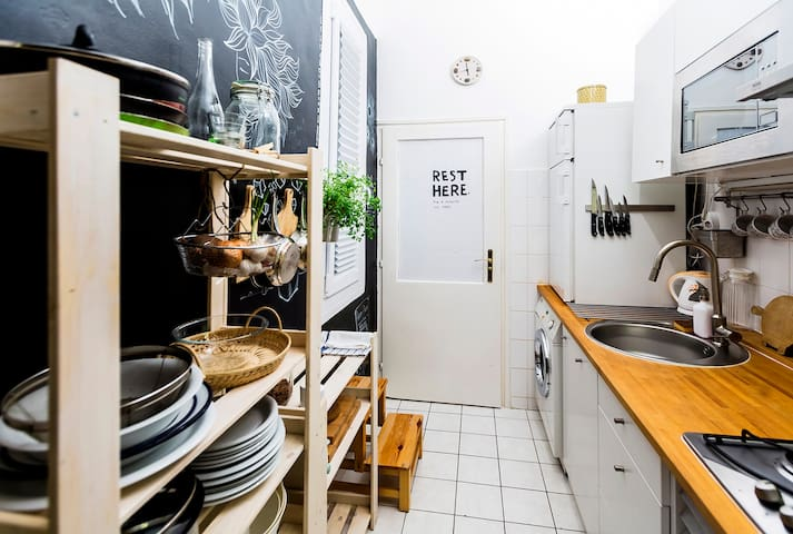 Wellequipped kitchen with everything you just need during your stay.