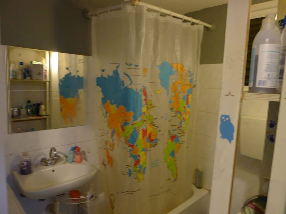 Search the globe while you bath