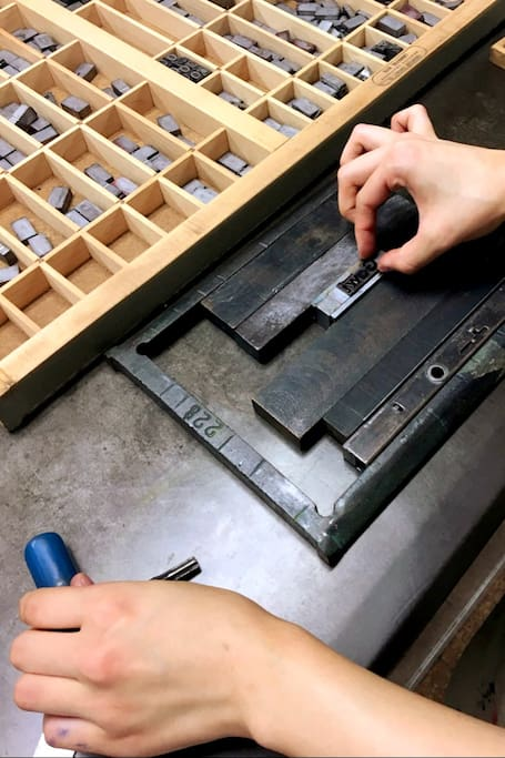 Setting type in a frame