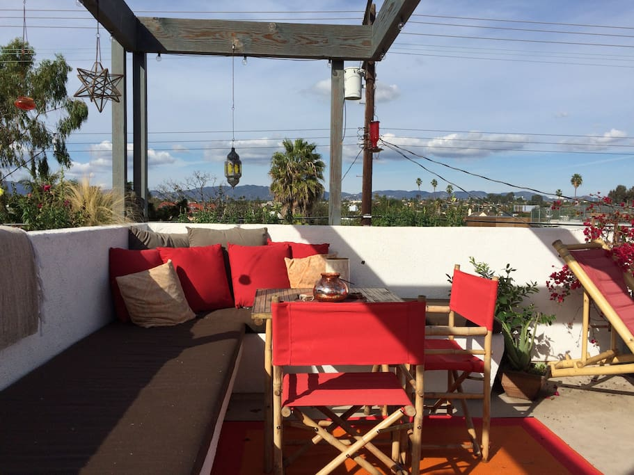 Rooftop deck with panoramic views