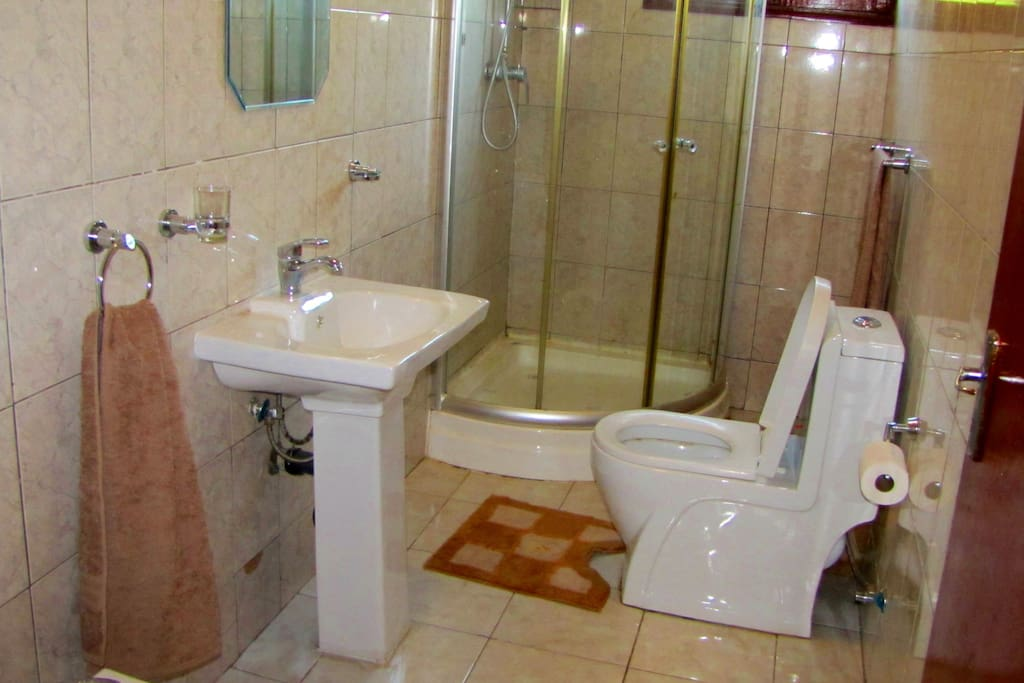 Shared Shower and Toilet