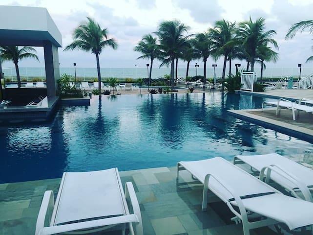 Lindo Flat-Resort em Natal/RN à beira-mar. - Parnamirim - Apartment