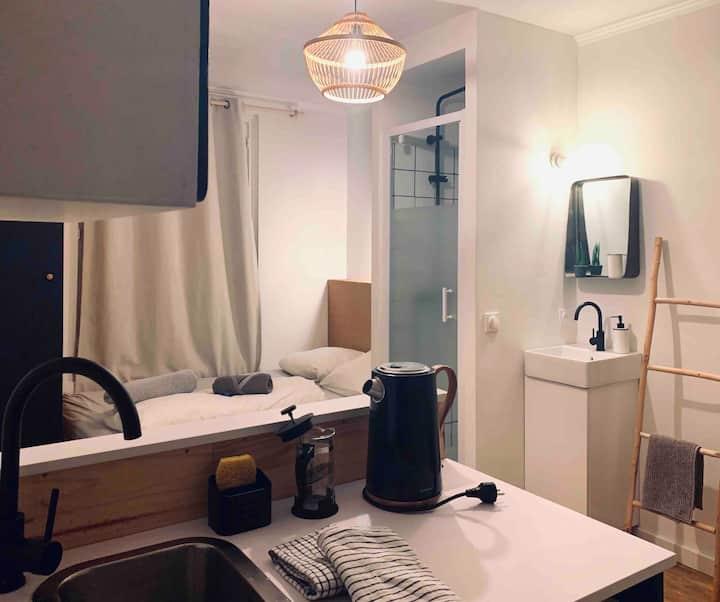 Lumière à Trouville, charmant petit studio !