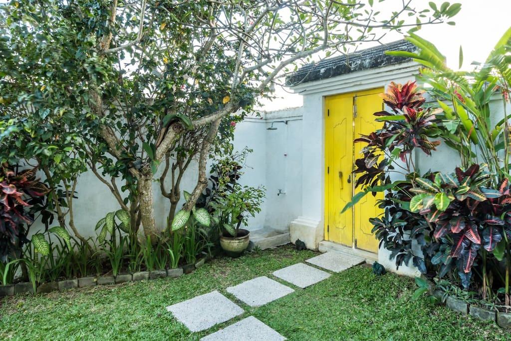 Entrance gate of the villa