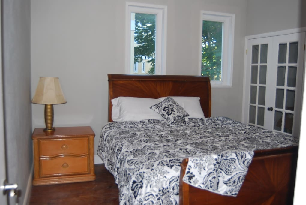 Bedrooms are all outfitted with soft quality linens