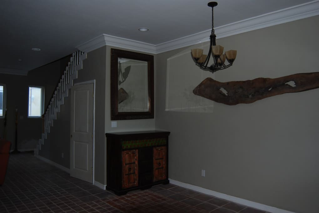 Buffet and dining space