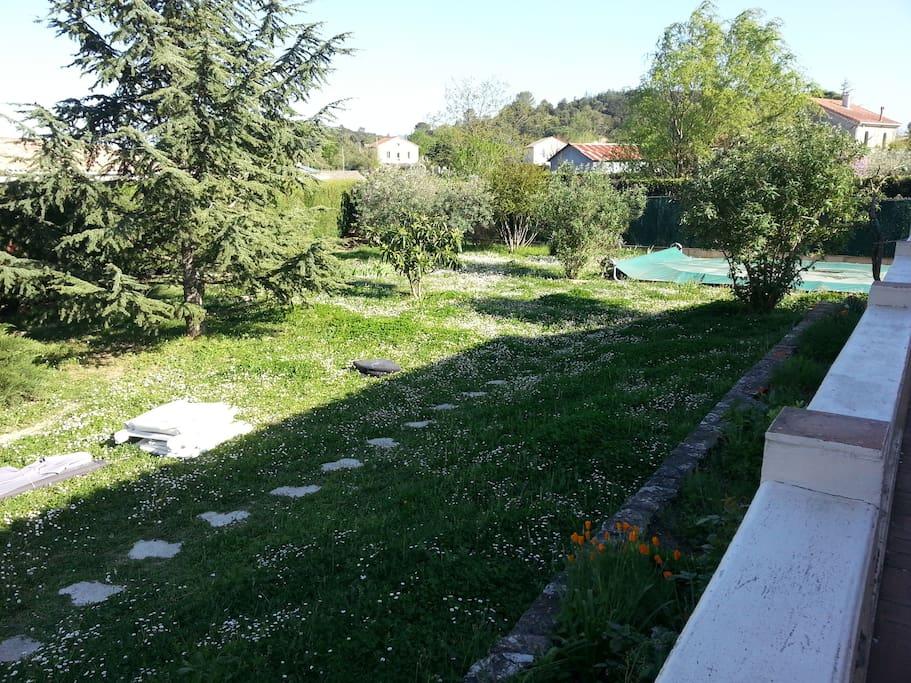 Jardin devant maison