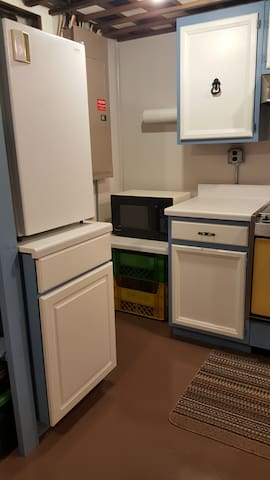 Dorm Style Refrigerator and Microwave