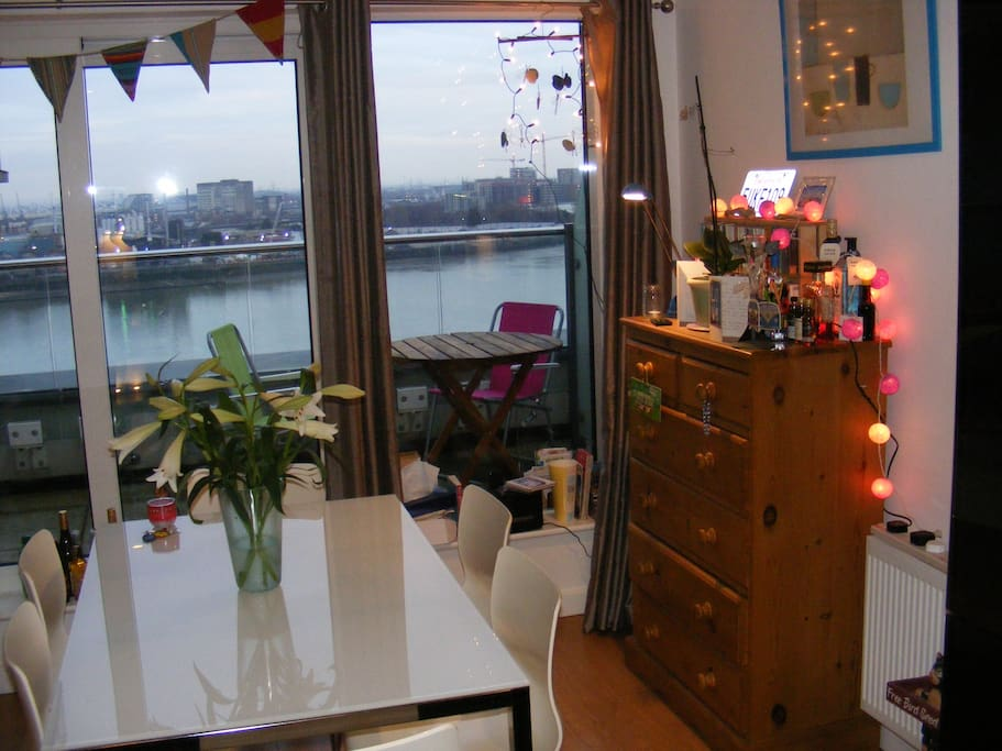 views of the Thames from the living room