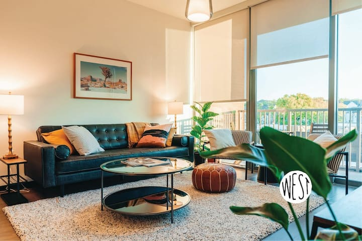 West Home | Hotel Style Suite w/ Gym, Heated Pool, and Cozy Beds #location #groups