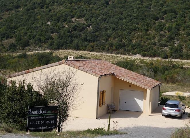 maison récente pour 6 pers  terrain - Saint-Maurice-d'Ibie - House