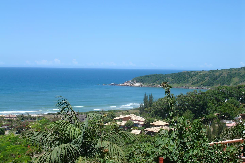 Linda vista para a Praia do Rosa