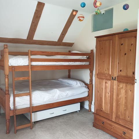 Upstairs bedroom - currently being redecorated ready for summer 2021