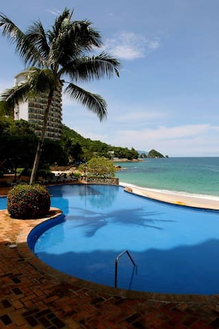 Beachfront family-friend 1 bdr 2 bath condo - Aguacate - Flat