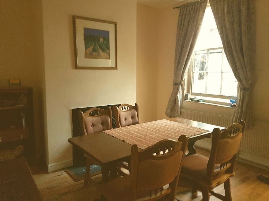 Dining room, guests are welcome to use and a breakfast can be provided, fruit, croissants, toast, tea and coffee (please let me know if breakfast is desired).