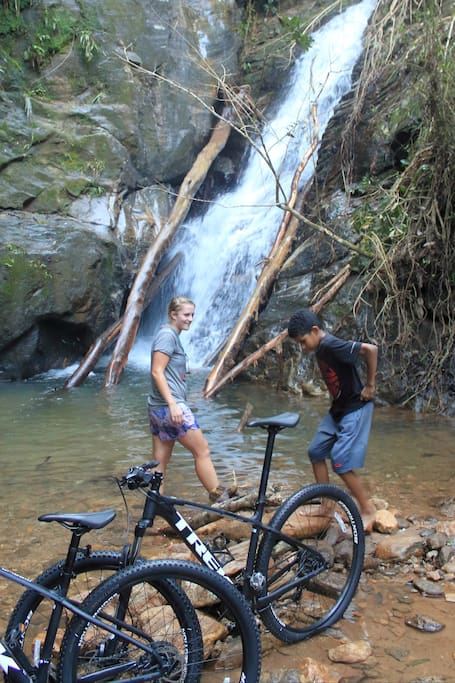 A refreshing waterfall stop