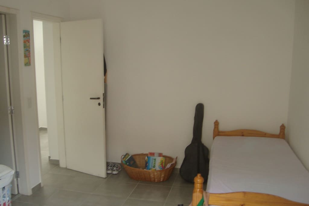 Single room, also with its ensuite own bathroom and own balcony