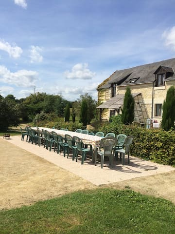 6 individual gites in the loire with shared pool - Breil - Casa