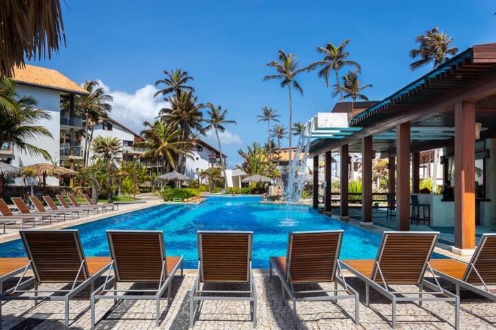 Taiba Beach Resort ap 1 Suíte Beira Mar F2