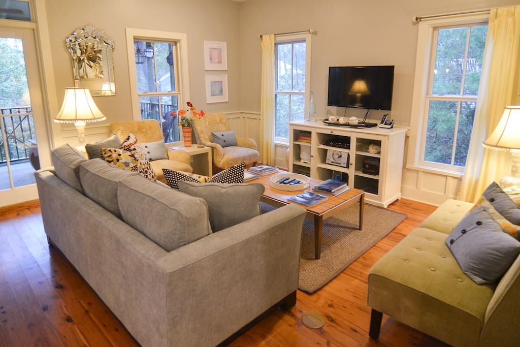 Living area with ample plush seating