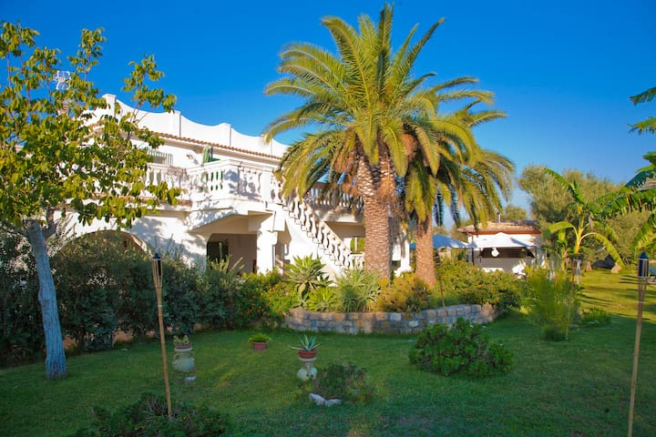 View of the villa