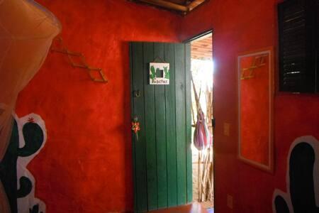 Na casa da Laura (room cactus) - São Miguel do Gostoso - 家庭式旅館