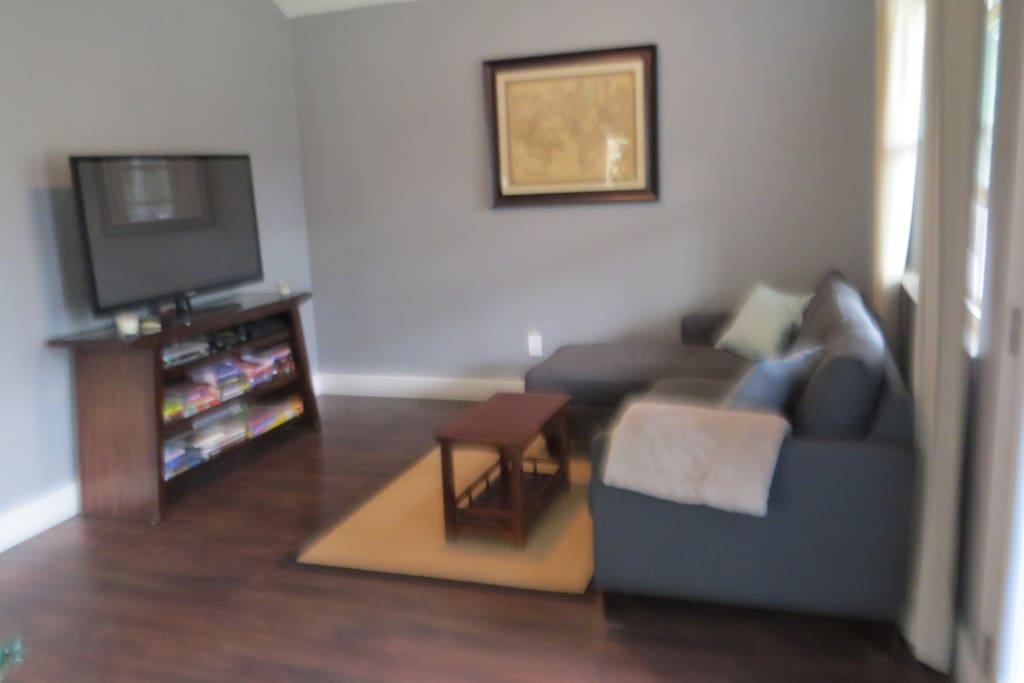 Livingroom with TV, cable/dvr