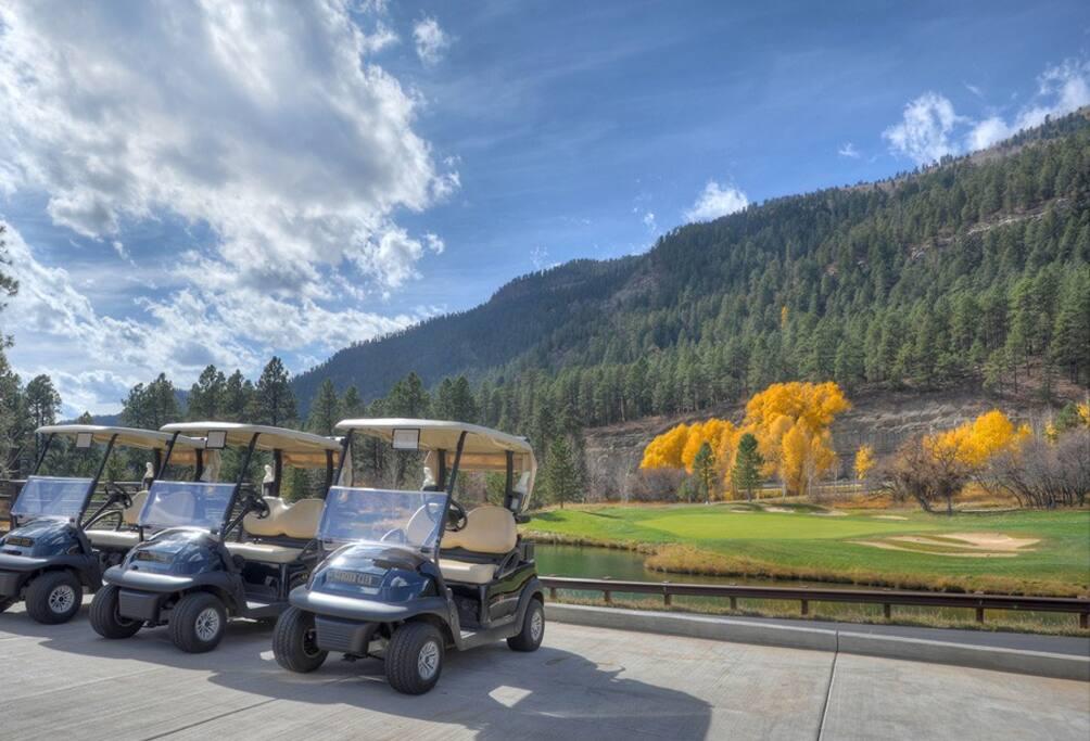 Mine Shaft Grill at Glacier Club Valley Glacier Club Valley Course Golf clubhouse Tamarron vacation rental condo Durango Colorado