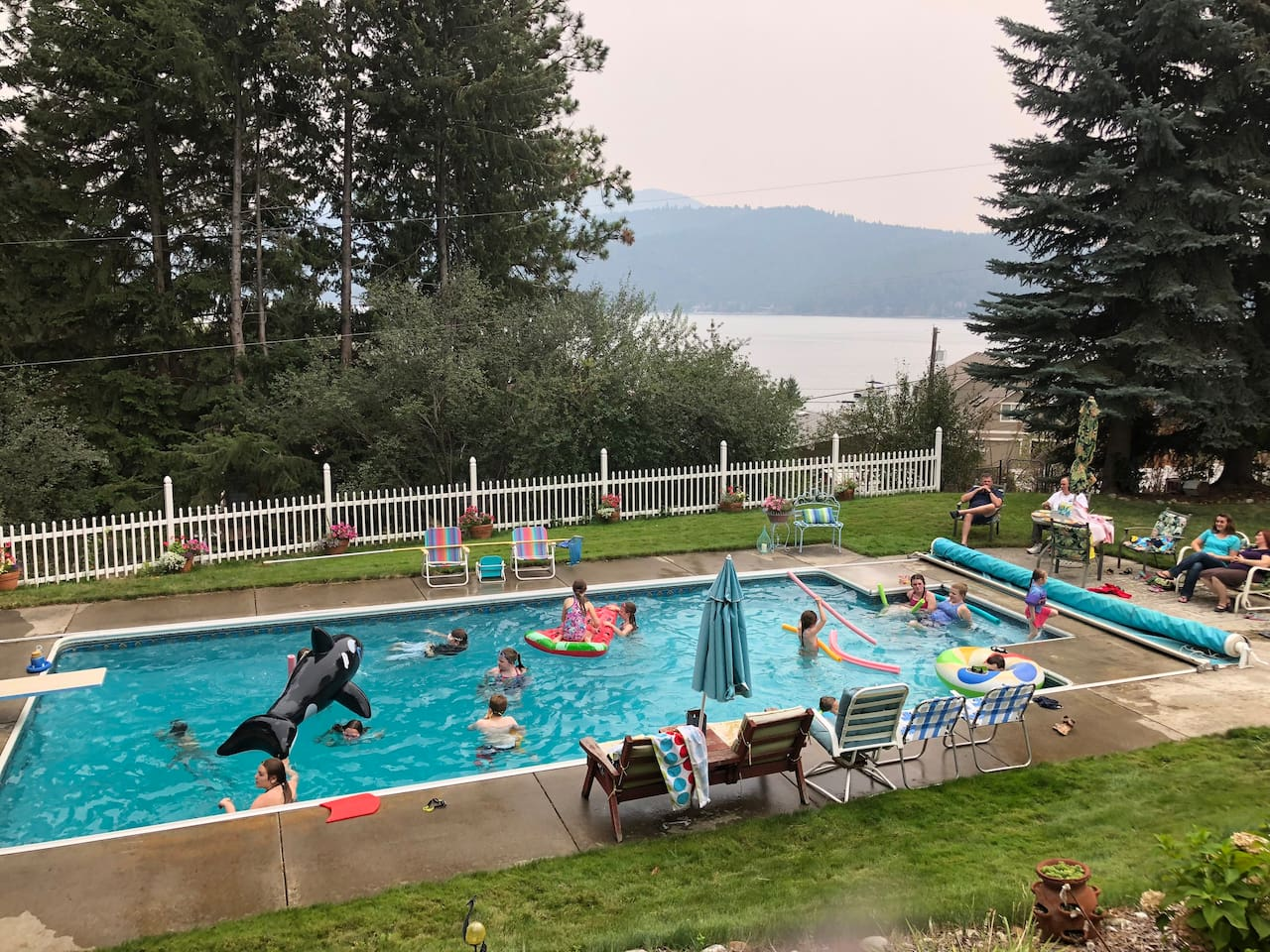 Fun in a huge heated pool! — with View!