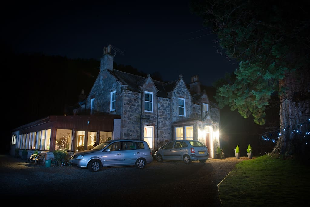 Kilmichael House at night
