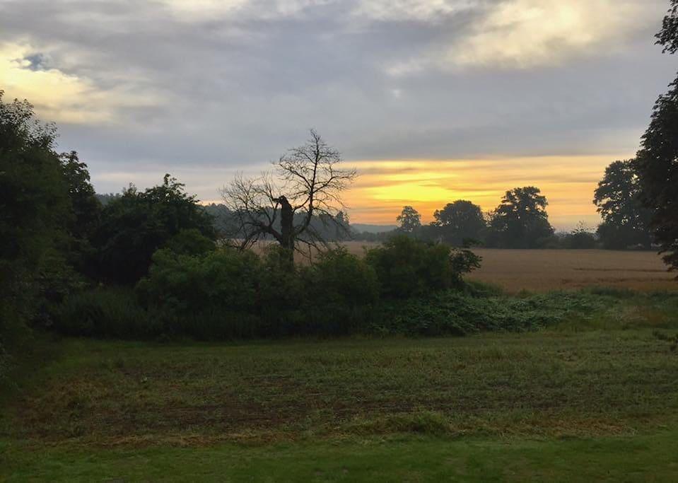 Sonnenaufgang in Groß Gischow