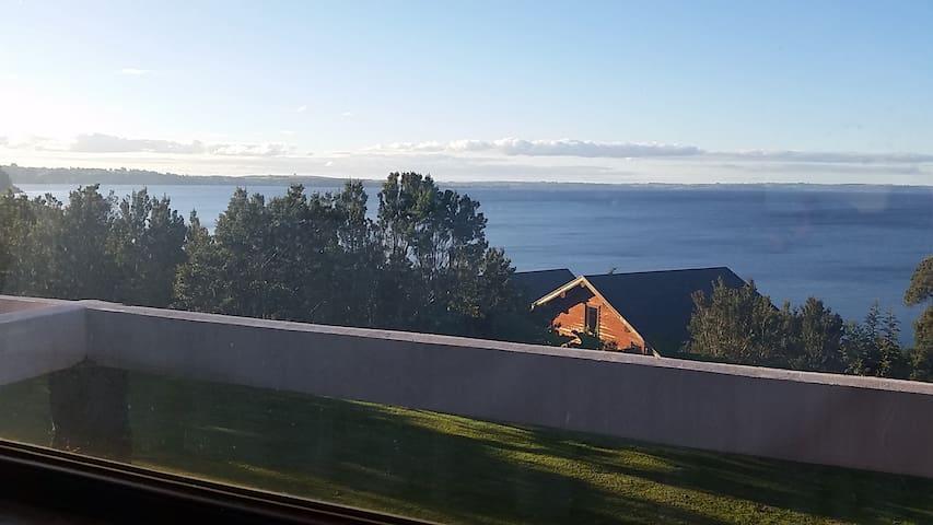 Inmejorable vista al Lago Llanquihue