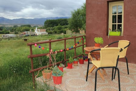 Habitación andina,pleno campo,a 800 mt del centro