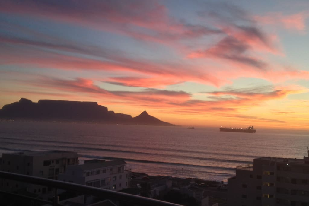 Watch amazing sunsets from the terrace.