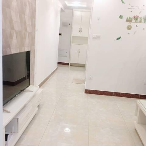 靠近武汉沌口体育馆中心一室一厅一卫一厨一阳台的公寓。