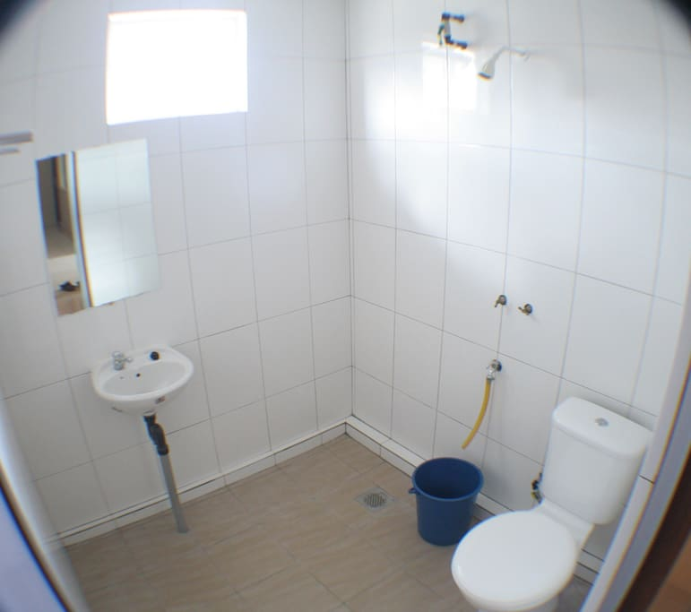 Water Heater Shower Available
