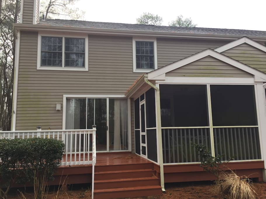 Back of house - Open deck with screened porch