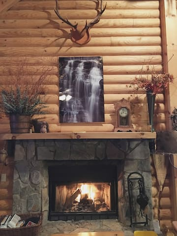 Fire Place in living room - so peaceful