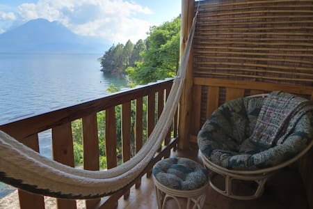 Lakeside private cabana, en-suite. Blue heron. - Lago de Atitlan