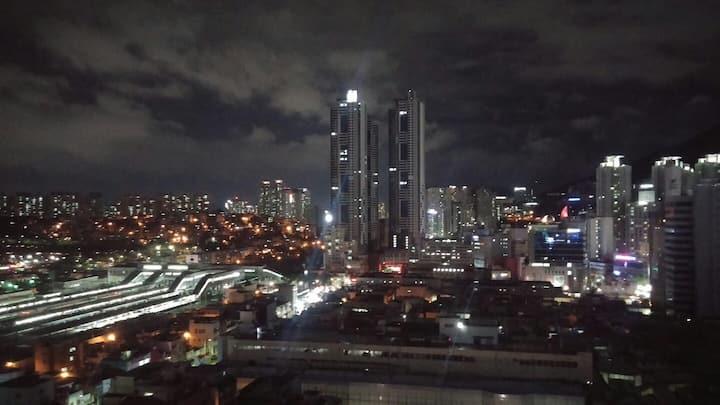 *Nice View**코로나예방!!안심숙소 청결!!!매일살균소독 BUSAN Seomyeon